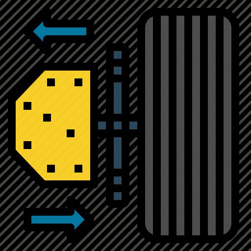 auto, axle, balancing, car, drivetrain, parts, service icon