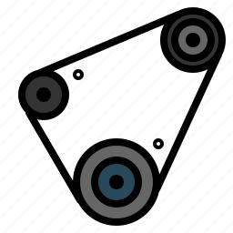 auto, belt, car, part, timing icon