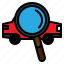 car, search, transportation, view icon
