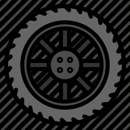 car, tire, wheel icon
