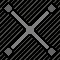 cross, garage, tool, universal, wheel, wrench icon
