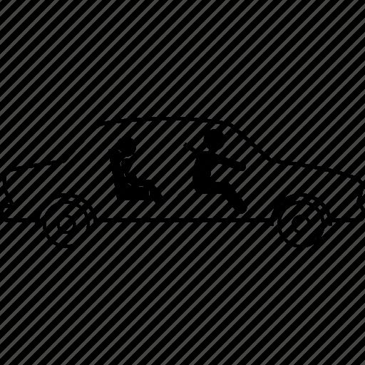 back, car, child, front, seat, seatbelt, strap icon