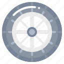 aliment, car, service, tire, wheel icon