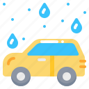 car, clean, service, vehicle, wash, water icon