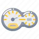 car, gate, meter, mile, service, speed icon