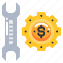 cost, dollar, money, service, tool icon