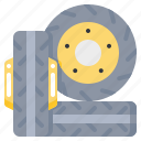 car, service, tire, tool icon
