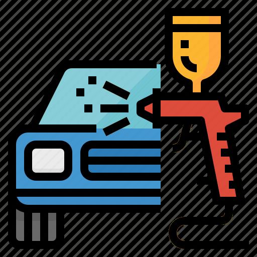 body, color, paint, repair, shop icon
