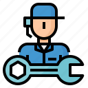 avatar, car, mechanic, repair, service icon