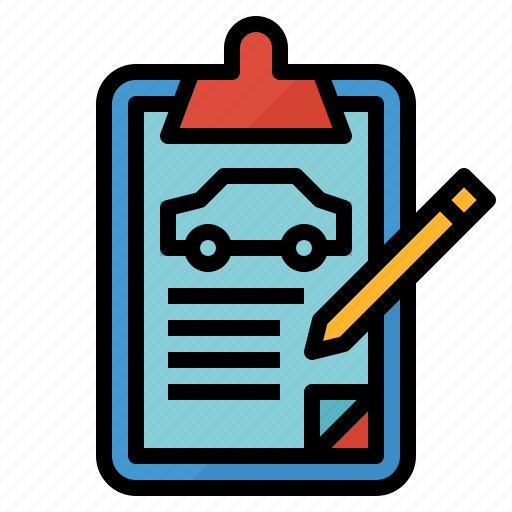 auto, car, document, form, list, order, vehicle icon