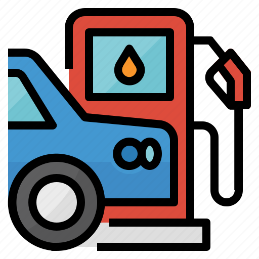 fuel, gas, gasoline, petrol, station icon