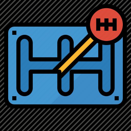 automobile, gear, manual, shift, stick, transmission icon