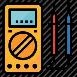 digital, electronic, measuring, multimeter, tool icon