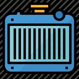condenser, conditioner, heater, heating, radiator icon