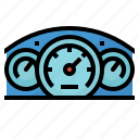 measures, motor, speedometer, vehicles icon
