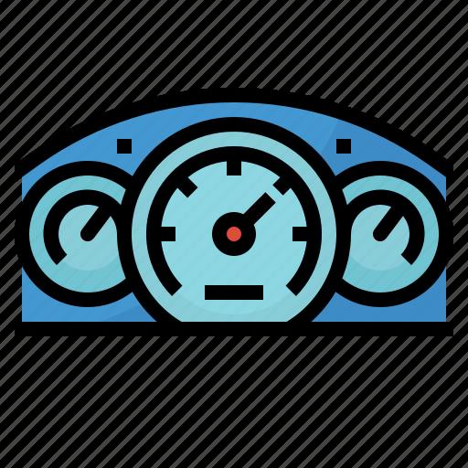 measures, motor, speedometer, vehicles icon