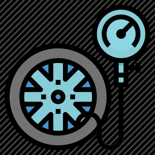car, mechanic, pressure, repair, service, tire icon