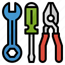 measures, mechanic, repair, service, tools icon