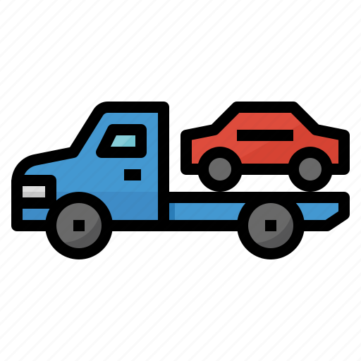 car, repair, service, trailer, truck icon