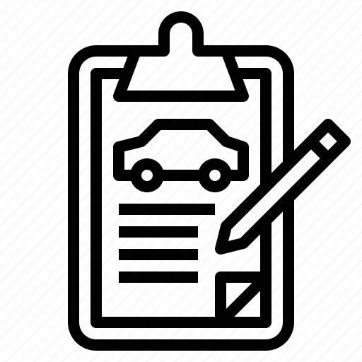 Auto, car, document, form, list, order, vehicle icon - Download on Iconfinder