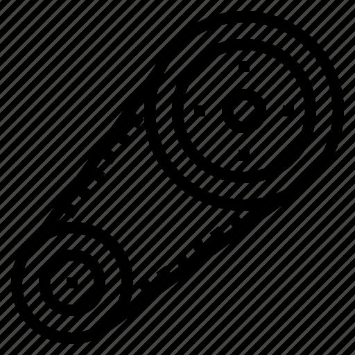 Auto, belt, car, engine, machine, serpentine icon - Download on Iconfinder