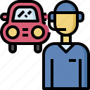 automobile, call, car, center, insurance, service, technician icon