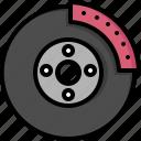 break, car, disk, fix, garage, part, service