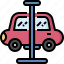 car, fix, hoist, lift, repair, service, suspension icon