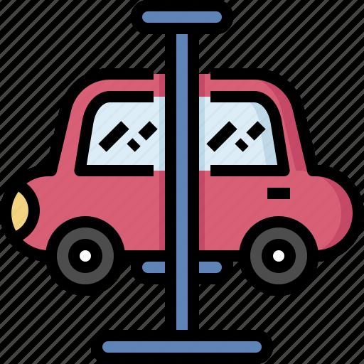 car, fix, hoist, lift, repair, service, suspension icon
