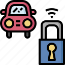 automobile, car, key, lock, protection, security, service icon