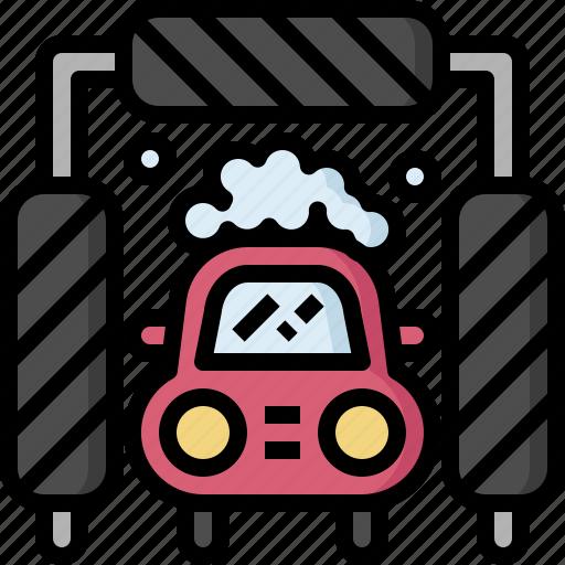 auto, automobile, car, fix, repair, service, washing icon