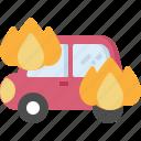 broken, burning, car, crash, fix, insurance, service