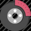 break, car, disk, fix, garage, part, service icon