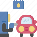 car, fix, gas, refueled, repair, service, station icon