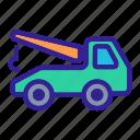 car, evacuator, service, tow, truck icon