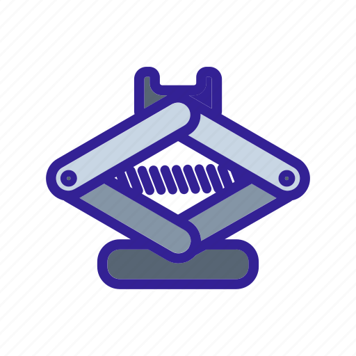car, equipment, jack, service, tools icon