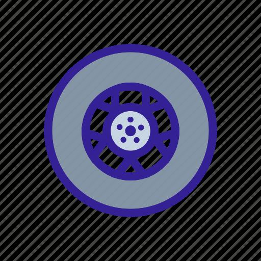 car, detail, service, tools, wheel icon