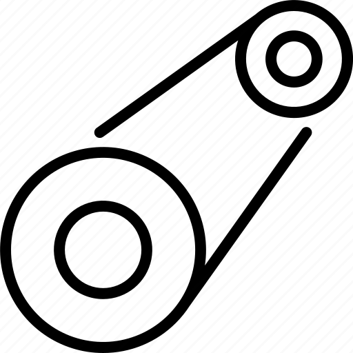 Belt, car, drive, engine, motor, transportation, vehicle icon - Download on Iconfinder