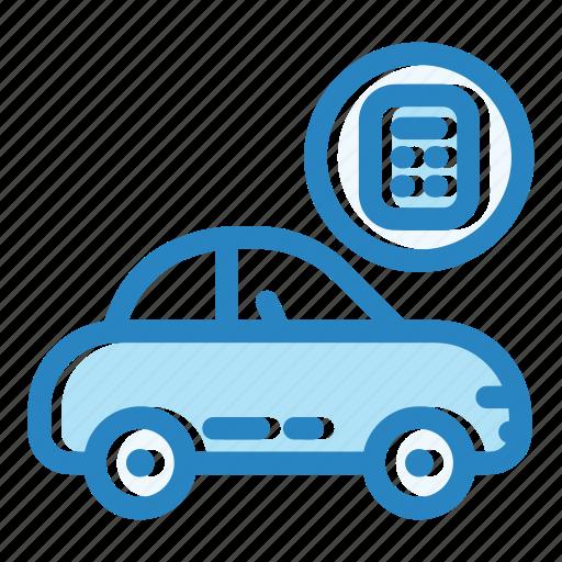 business, calculator, car, finance, price, sale, vehicle icon