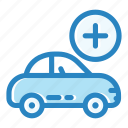 add, auto, automobile, car, engine, transportation, vehicle icon