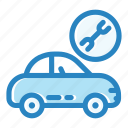 car service, car support, component, engine, garage, repair, troubleshoot icon