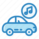 auto, car, lifestyle, music, radio, technology, vehicle icon