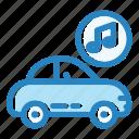 auto, car, lifestyle, music, radio, technology, vehicle icon