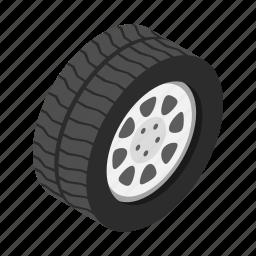 isometric, race, rim, tire, truck, tyre, wheel icon