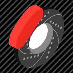 car, equipment, isometric 3d, part, repair, transportation, wheel icon