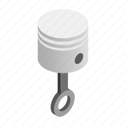 engine, metal, motor, part, piston, transportation, truck icon