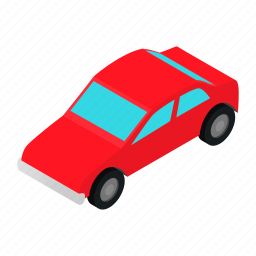 car, isometric, perspective, projection, quality, retro, road icon