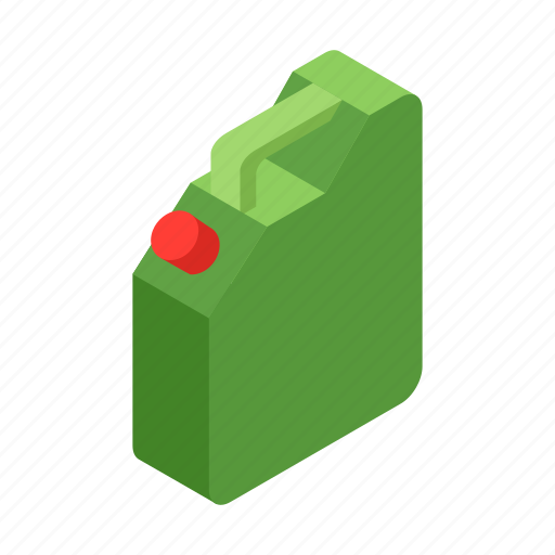 canister, energy, industry, isometric, jerrycan, petrol, transportation icon