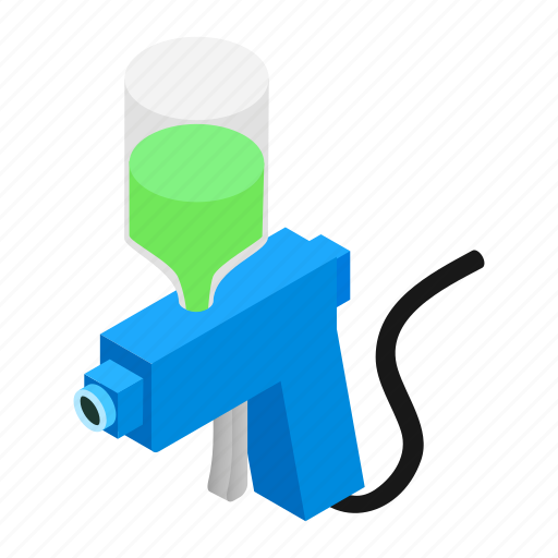 car, gun, isometric, job, paint, spray, sprayer icon