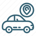 car, gps, location, map, navigation, road, vehicle icon
